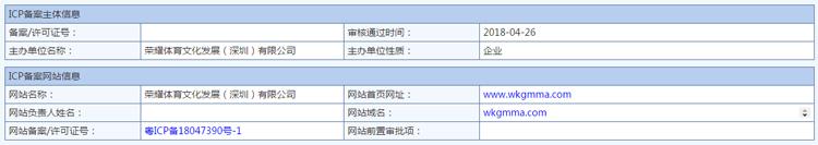 企业快速备案 粤ICP备18047390号-1  wkgmma.com的照片 - 1